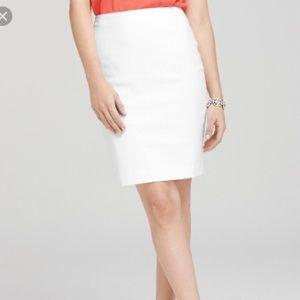 Ann Taylor White Career Wiggle Pencil Skirt